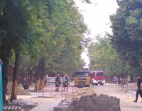 Koparka uszkodziła gazociąg na Żwirki i Wigury. Ewakuowano mieszkańców