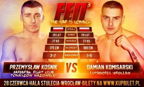 Tomaszowianin, Przemysław Kośnik na sobotniej gali MMA we Wrocławiu