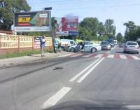 Policyjnym oplem w ciężarówkę