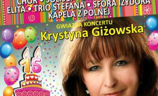 Krystyna Giżowska na XV Jubileuszowym Koncercie Charytatywnym SERCE NA DŁONI