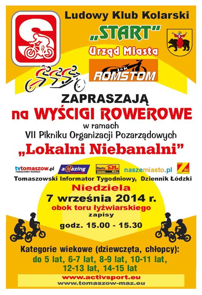 Wyścigi rowerowe Lokalni Niebanalni 2014