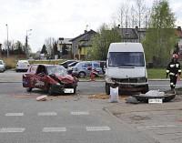 Wypadek przy komisariacie policji