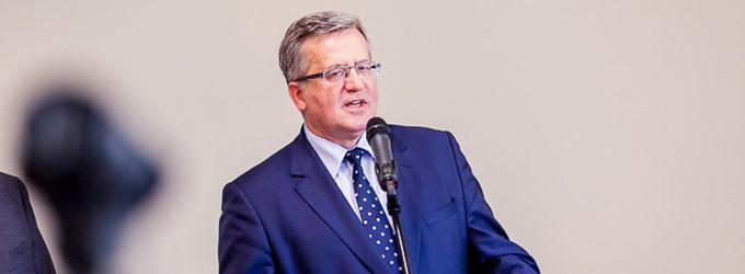 Prezydent Bronisław Komorowski w Tomaszowie Mazowieckim