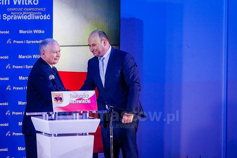 Jarosław Kaczyński i Marcin Witko