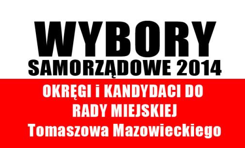 Okręgi i kandydaci do Rady Miejskiej Tomaszowa. Gdzie i na kogo głosować?