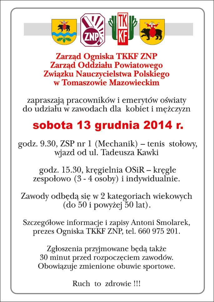 Afisz-Tenis-Stołowy,-Kręgle-grudzień-2014