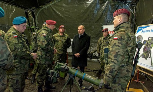 Wizyta sekretarza stanu Czesława Mroczka w 25. Brygadzie
