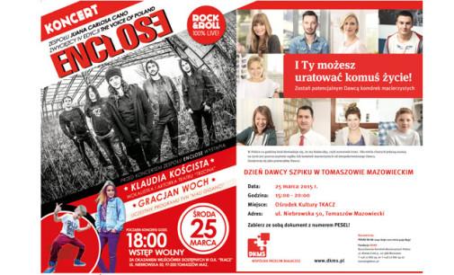 Przyłącz się do walki z białaczką. Dzień Dawcy Szpiku w Tomaszowie z koncertem zespołu Enclose!