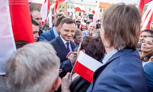 Andrzej Duda zakończył kampanię prezydencką w Tomaszowie Mazowieckim (WIDEO i ZDJĘCIA)