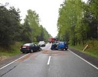 Wypadek na drodze do Spały