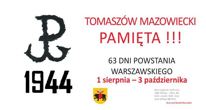 Tomaszów Mazowiecki pamięta. Uroczystości w rocznicę wybuchu Powstania Warszawskiego
