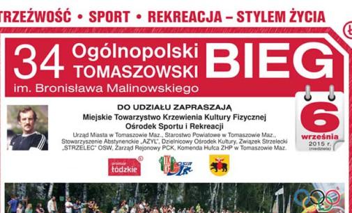 34.Ogólnopolski Tomaszowski Bieg im. Bronisława Malinowskiego