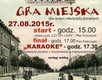 Zapraszamy do udziału w grze miejskiej śladami dawnych scen teatralnych Tomaszowa