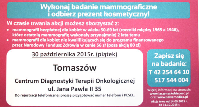 Bezpłatna mammografia w Nu-Med