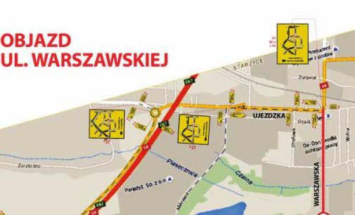 Od środy zamkną Warszawską. Rusza przebudowa  W713