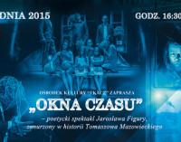 """Spektakl """"OKNA CZASU Tomaszowa"""" i spotkanie z Joanną Kulmową w O.K. TKACZ"""