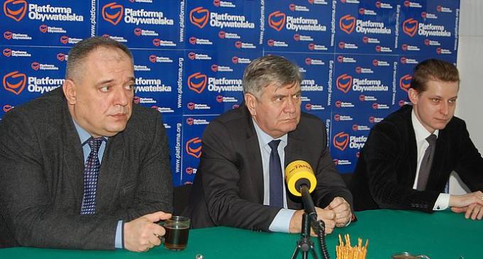 Marszałek Witold Stępień w Tomaszowie