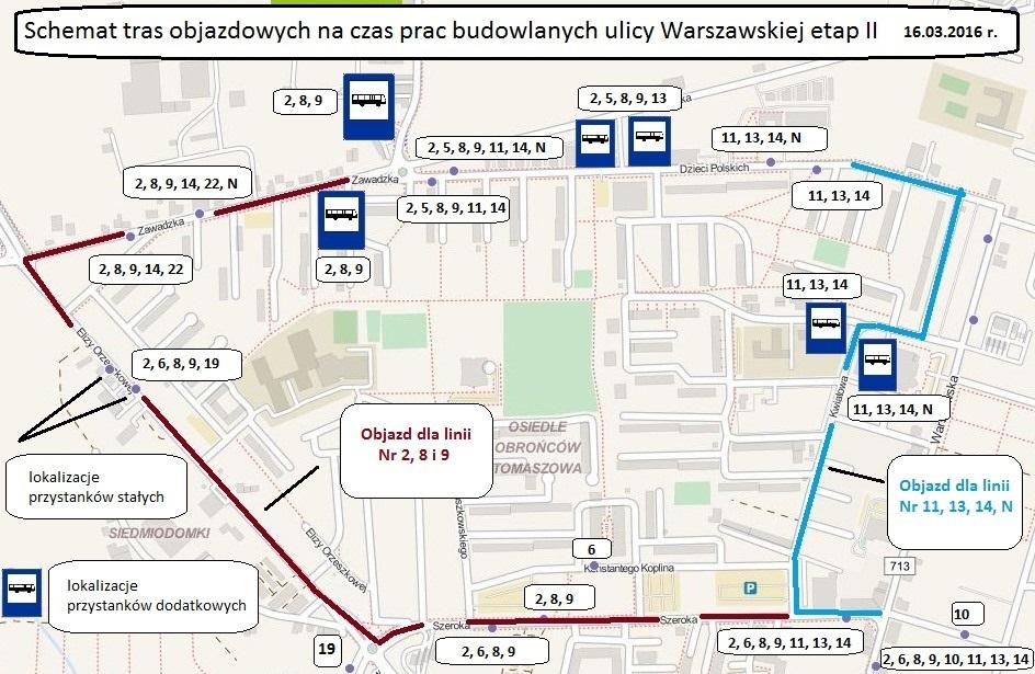 objazd_warszawska_MZK_tomaszow