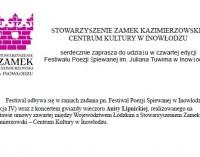 Zaproszenie do udziału w Festiwalu Poezji Śpiewanej im. J. Tuwima w Inowłodzu
