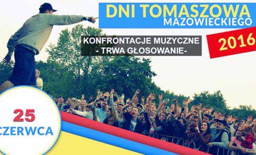 Dni Tomaszowa 2016. Konfrontacje muzyczne – zagłosuj na swojego faworyta!