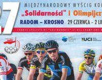 """27. Międzynarodowy Wyścig Kolarski """"Solidarności"""" i Olimpijczyków przejedzie przez Tomaszów"""