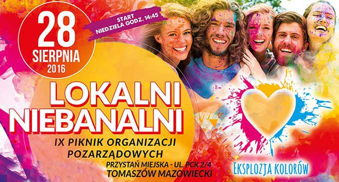 Eksplozja Kolorów i koncerty na pikniku Lokalni Niebanalni