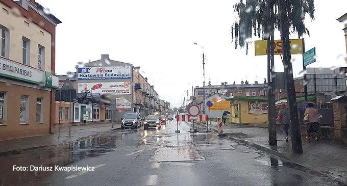 Kolejny odcinek Warszawskiej wyłączony z ruchu