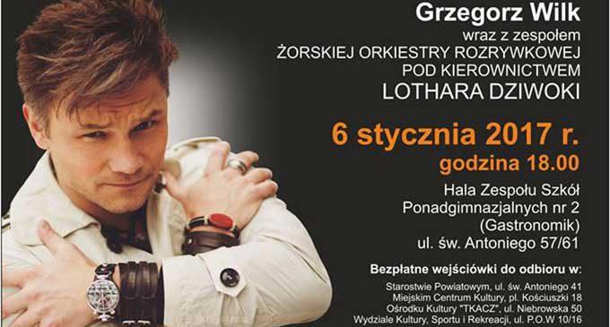 Grzegorz Wilk na Koncercie Noworcznym w Tomaszowie