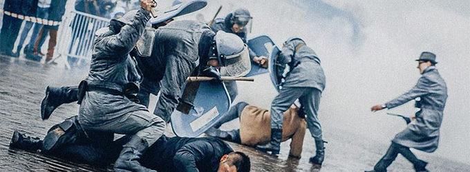 Inscenizacja historyczna z okazji 35. rocznicy stanu wojennego