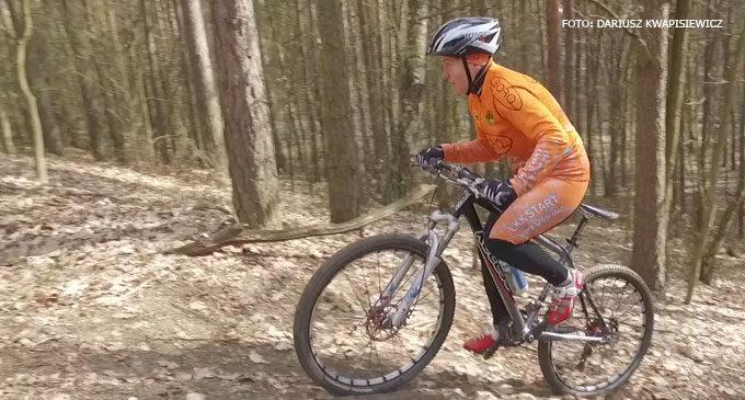 Dorota Warczyk pierwsza w zimowym wyścigu rowerowym
