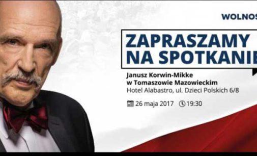 Janusz Korwin Mikke przyjedzie do Tomaszowa