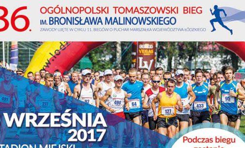 36. Ogólnopolski Tomaszowski Bieg im. Bronisława Malinowskiego już w niedzielę