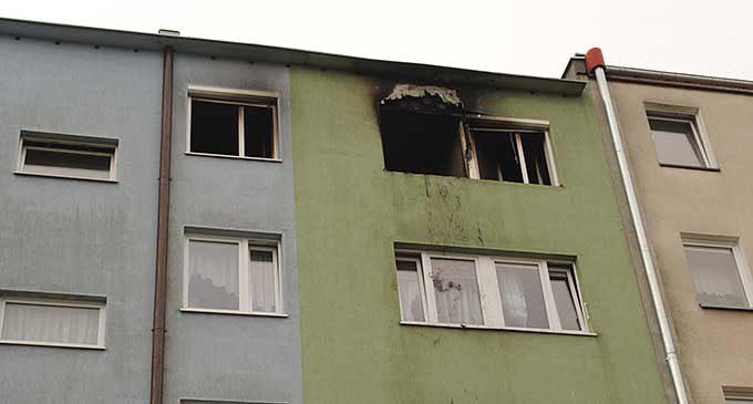 Pożar w bloku przy ul. Sikorskiego