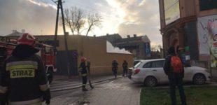 Pożar przy ul. Tkackiej (ZDJĘCIA I WIDEO)