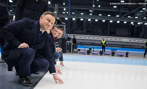 Uroczyste otwarcie Areny Lodowej z udziałem prezydenta RP Andrzeja Dudy