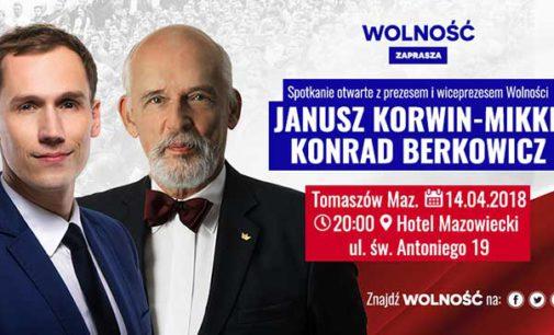 Spotkanie z Januszem Korwin-Mikke w Tomaszowie Mazowieckim