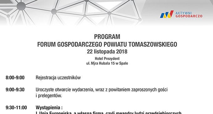 Zapraszamy na Forum Gospodarcze Powiatu Tomaszowskiego