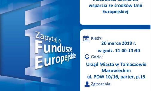 Fundusze Europejskie. Bezpłatne porady w Urzędzie Miasta