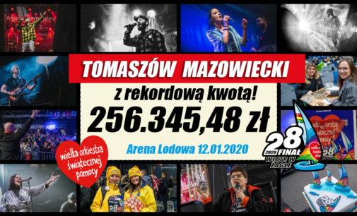 Rekordowy Finał WOŚP 2020 w Tomaszowie Maz. (ZDJĘCIA)
