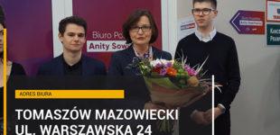 Posłanka Anita Sowińska otworzyła biuro w Tomaszowie (WIDEO)