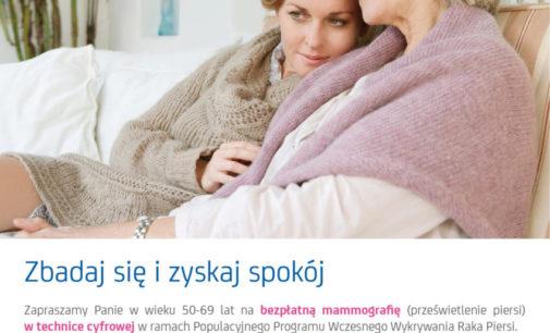 Bezpłatna mammografia ‒ zbadaj się i zyskaj spokój