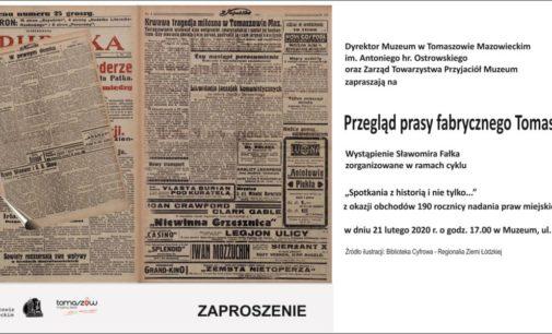 Przegląd prasy fabrycznego Tomaszowa ‒ zaproszenie