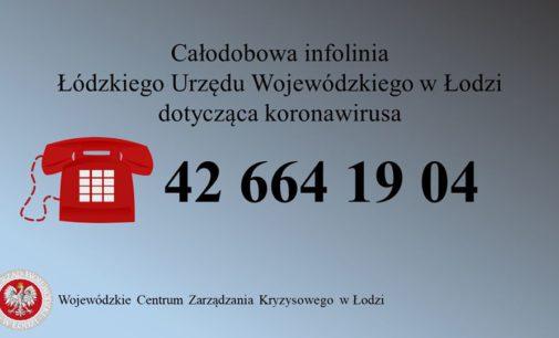 Całodobowa infolinia w sprawie koronawirusa dla mieszkańców województwa łódzkiego!