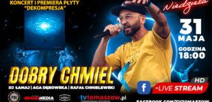 """Tomaszowski rap online. Koncert Dobry Chmiel """"Dekompresja"""" w niedzielę o 18:00"""