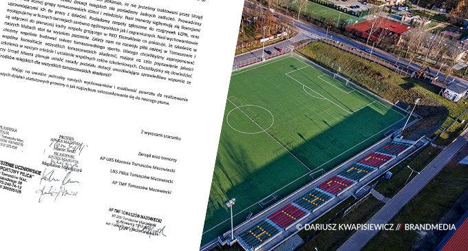 List otwarty akademii i klubów sportowych do Prezydenta Tomaszowa