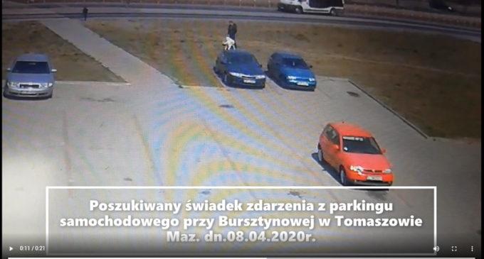 Policja szuka świadka zdarzenia na parkingu przy ul. Bursztynowej (WIDEO)