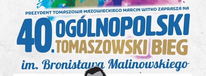 Trwają zapisy na 40. Ogólnopolski Tomaszowski Bieg im. Bronisława Malinowskiego