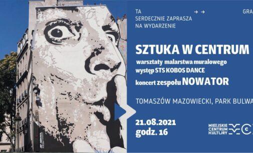 Warsztaty malarstwa muralowego i koncert Nowatora w parku Bulwary!
